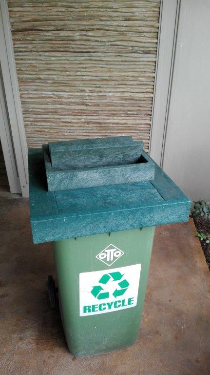 LavaPlastic Recycled Plastic Decks-Custom Builds - Dustbin-lids